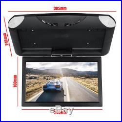 10.1'' Car Roof Mount Monitor LCD TFT Flip Down Digital Wide Screen MP5