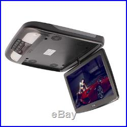 12 Inch Flip Down TFT LCD Monitor Car Roof Mount Monitors Wide Screen LED Light
