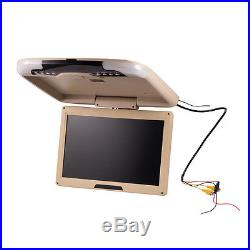 13 Inch Car Ceiling Monitor LCD TFT Flip Down Roof Mount LED Digital Wide Screen