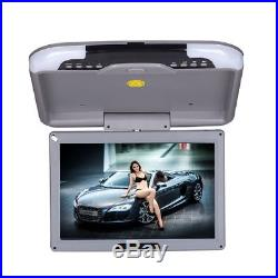 13 LCD TFT Car Ceiling Flip Down Overhead Roof Mount Wide Screen Monitor Grey