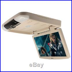 15.6 Wide Screen Van Car TFT LCD Flip Down Roof Mount Video Monitor USD SD HDMI