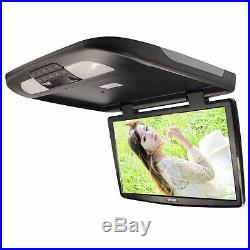 18.5 Inch Flip Down TFT LCD Monitor Car Roof Mount Monitors Wide Screen Black 1X