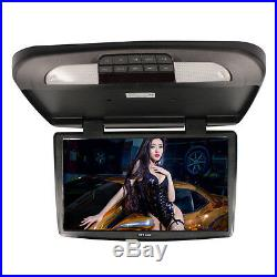 1x 18.5 Inch TFT LCD Monitor Car Roof Mount Wide Screen Monitors Black