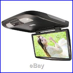 1x 18.5 Inch TFT LCD Monitor Car Roof Mount Wide Screen Monitors LED Light Black