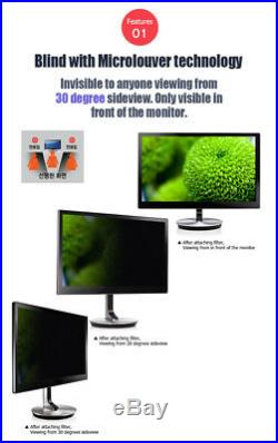 22 inch WIDE (475x297.5mm) NANOBLIND Privacy Screen Filter for PC LCD Monitor