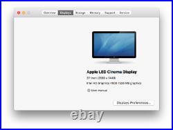 27 Apple A1316 Cinema Display LED-Backlit TFT LCD Widescreen MacBook PC Monitor