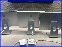 3 x Apple 20 Widescreen LCD Cinema Display A1081 WITH Power Supply