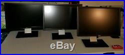 3x Dell UltraSharp U2410 24 Widescreen LCD Dell with Ergotech Monitor Stand
