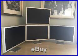 4 Apple Cinema A1083 30 Widescreen LCD Monitors One With Wall Mount, Plus Power