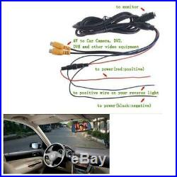7 HD LCD Wide Screen Car Rear View Parking System Mirror Monitor Backup Camera