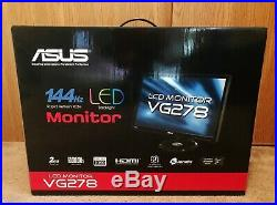 ASUS VG278HE 27 Widescreen LCD Gaming Monitor withLED Backlights MINT withBox 144Hz