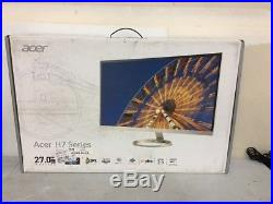 Acer 27 Widescreen LCD Monitor Display WQHD 2560 x 1440 4 ms IPS H277HU