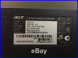 Acer S S231HL bid 23 Widescreen LED LCD Monitor