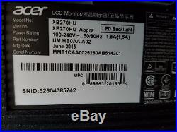 Acer XB270HU abprz 27 Widescreen LED LCD Monitor