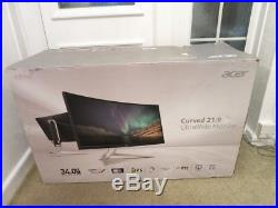 Acer Xr342ck 34 Led Curved Qhd Ips Freesync Gaming Monitor Silverboxeduk