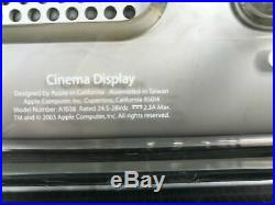 Apple Cinema Widescreen LCD Monitor A1038 With Power Supply