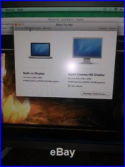 Apple HD Cinema Display A1083 Widescreen 30 30-Inch LCD Monitor + Power Adapter