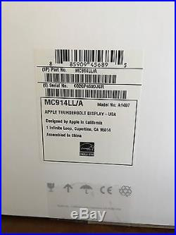Apple Thunderbolt A1407 27 Widescreen LCD Display Monitor, Speakers, Camera