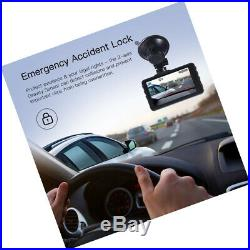 Dash Cam Recorder 3-Inch LCD Screen Wide Angle G-Sensor Motion Parking Monitor