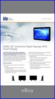 Elo Touch 3200L 32 Widescreen Touch Screen LCD Monitor