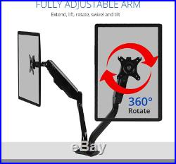 F8LD 24-36 Dual Monitor Mount Desk Stand fits for ultra wide LED LCD Screen 4