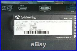 GATEWAY FHD2400 BLACK-SILVER 24 3ms HDMI Widescreen LCD Monitor with Wall Mount
