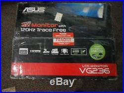 GRADE A- ASUS VG236H 23 Widescreen LCD HD Monitor with NVIDIA 3D Vision Glasses