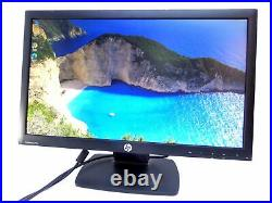 HP ProDisplay P221 21.5 Widescreen LED LCD Monitor with vga and mains cable