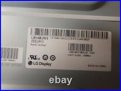 LG Wide Screen Monitor LCD Screen, part # LM340UW3-SSA1 Used FREE SHIPPING