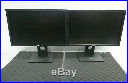 LOT OF 2 Dell P2210F Black 22 5ms (BTW) Widescreen LED Backlight LCD