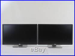 LOT of (2) Dell P2414H 24 Widescreen 1920x1080 Full HD IPS LED LCD Monitor DVI