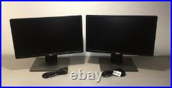 Lot 2 Dell P2214Hb 22 Widescreen Monitor 1920 x 1080p withStands LED LCD Scratch