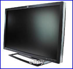 Lot of (2) HP ZR30w 30 Widescreen LCD Monitor 2560x1600 with Stand & Cables
