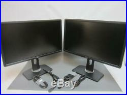 Lot of 2X Dell Professional P2412Hb 24 Widescreen LED LCD Monitor