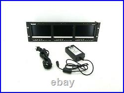 Marshall V-R63P-SDI Triple Rackmount 5.8 Wide Screen LCD Monitors with AC Adapter