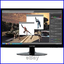 Monitor LED Lit LCD HDMI DVI VGA 20 in 5ms Widescreen 1600