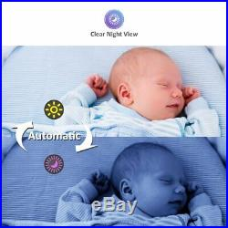 MoonyBaby Baby Monitor with 2 Cameras Split Screen, Wide View, 5 Inches LCD