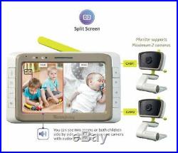 MoonyBaby Baby Monitor with 2 Cameras Split Screen Wide View 5 Inches LCD Video