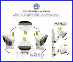 Moonybaby Baby Monitor With 2 Cameras Split Screen, Wide View, 5 Inches Lcd Vide