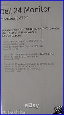 NEW Dell E2416HM 24-inch PERFECT GIFT Widescreen LED LCD 1YR