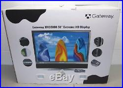 New! Sealed! 2008 GATEWAY #XHD3000 30 Widescreen HD LCD COMPUTER MONITOR