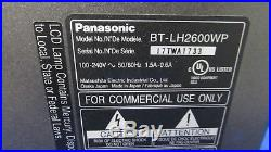 Panasonic BT-LH2600W 26 Widescreen HD/SD LCD Monitor with 775 hrs
