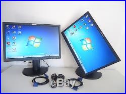 SET OF 2 Lenovo ThinkVision L2251PWD 22-inch Widescreen LED LCD NICE MONITOR