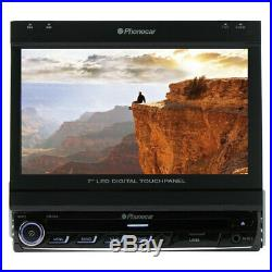 Stereo Am-Fm RDS Eon DVD USB Monitor 7 Tft-Lcd Wide Touchscreen 1 Din Phonocar