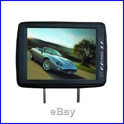 Tview T120plbk 12 Black Car Headrest Widescreen Tft Lcd Monitors With Remotes 964