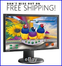 ViewSonic VG2428wm 24 WideScreen LCD Monitor with VGA & power cables Free Ship