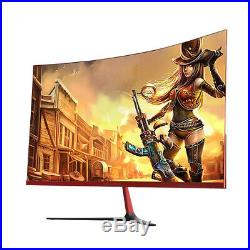 Wearson 3000R 27 inch Curved Wide Screen LCD Gaming Monitor Bezel-Less HDMI VGA