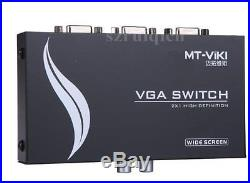 Wide Screen VGA 2in1out Mini 2 Port VGA Monitor LCD PC Video Sharing Converter