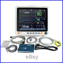 Wide Viewing Angle Color TFT LCD 12.1 Touch Screen Patient Monitor Vital Signs